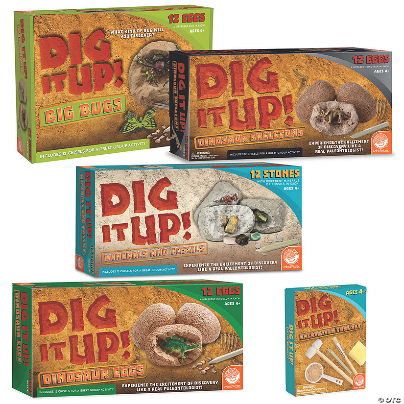 Dig It Up! Set of 4 plus FREE Bonus Excavation Kit Image Thumbnail