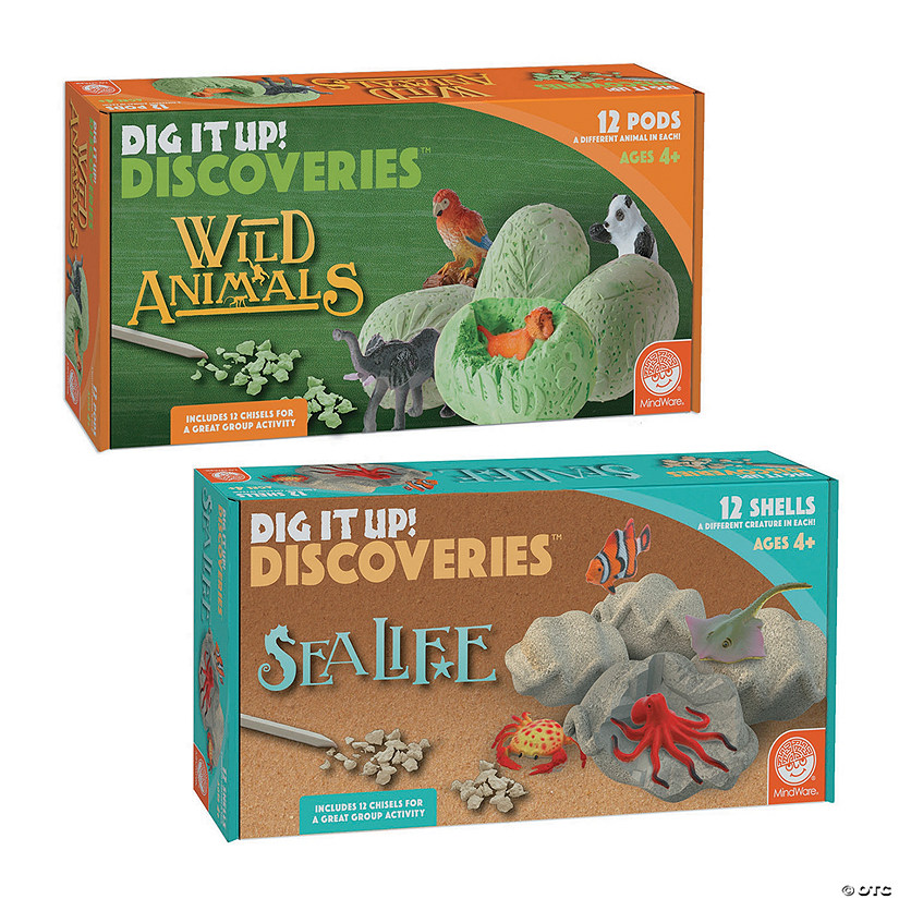 Dig It Up! Wild Animals & Sea Life: Set of 2