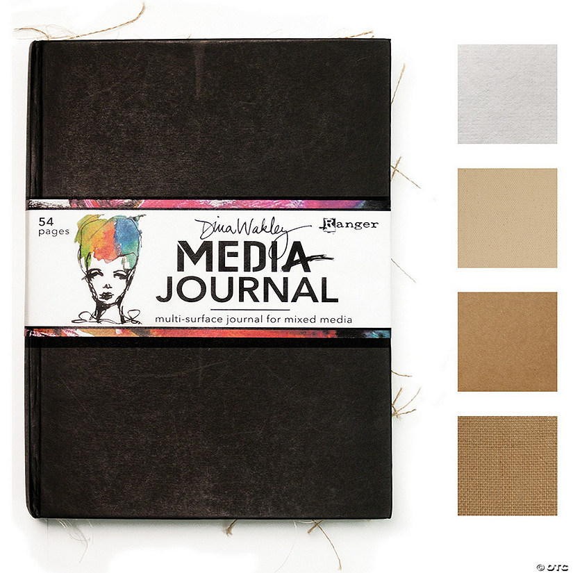 "Dina Wakley Media Journal 8""X10""-"