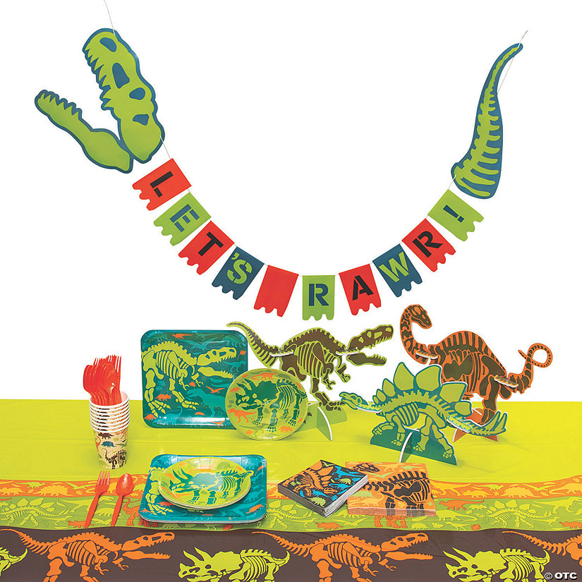 Dino Dig Tableware Kit for 8 Image Thumbnail