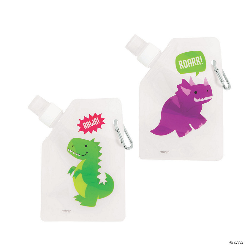 Dinosaur Collapsible Water Bottles Image Thumbnail