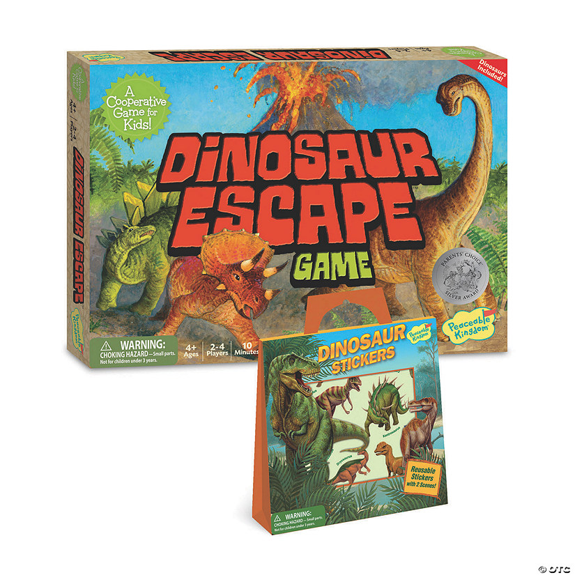 Dinosaur Escape and Dinosaur Stickers: Set of 2 Audio Thumbnail