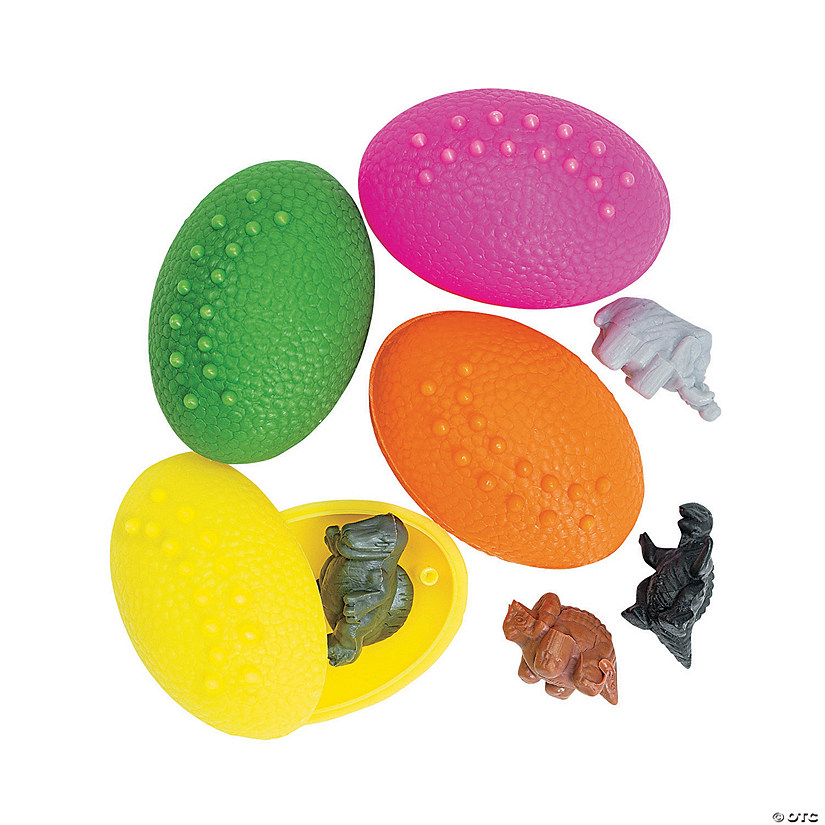 Dinosaur-Filled Plastic Eggs - 72 Pc. Image Thumbnail
