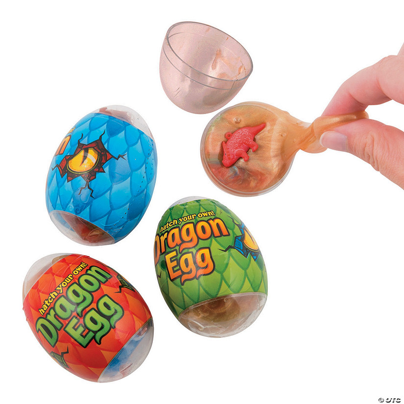 Dinosaur in Slime-Filled Plastic Eggs - 12 Pc. Image Thumbnail