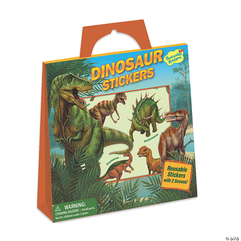 Dinosaur Reusable Sticker Tote Image Thumbnail