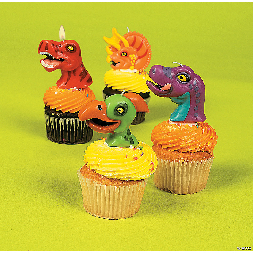 Dinosaur Shaped Cake Topper Candles