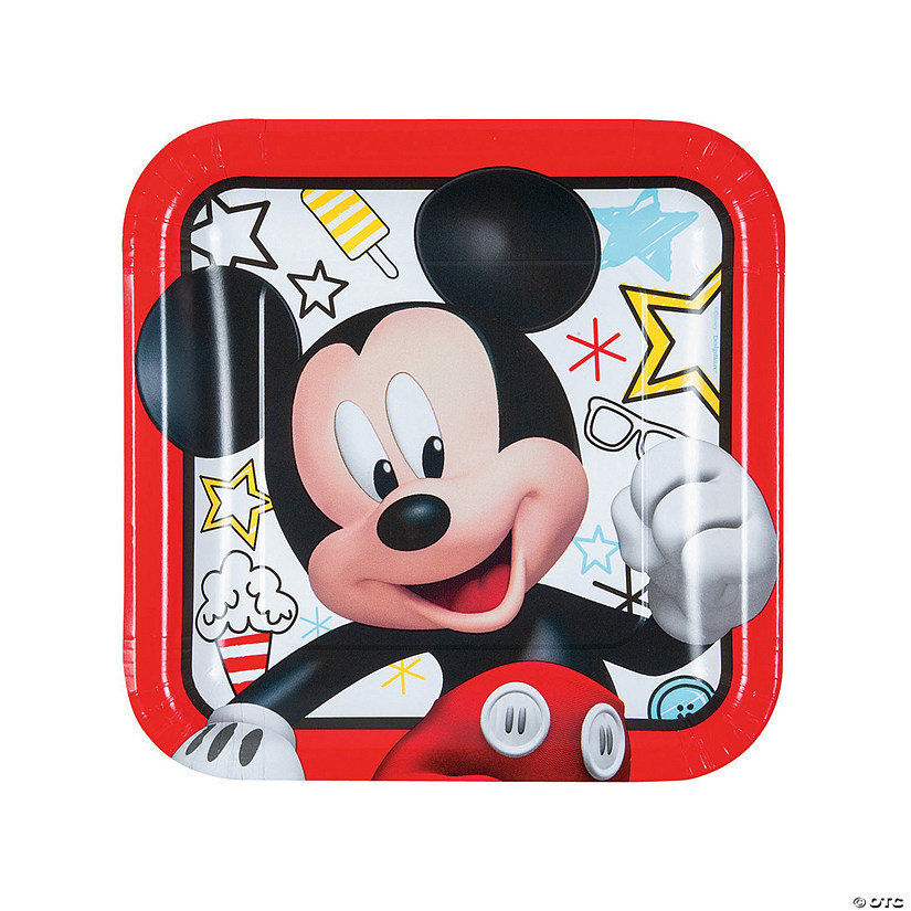 Disney® Mickey on the Go Square Paper Dinner Plates - 8 Ct. Audio Thumbnail