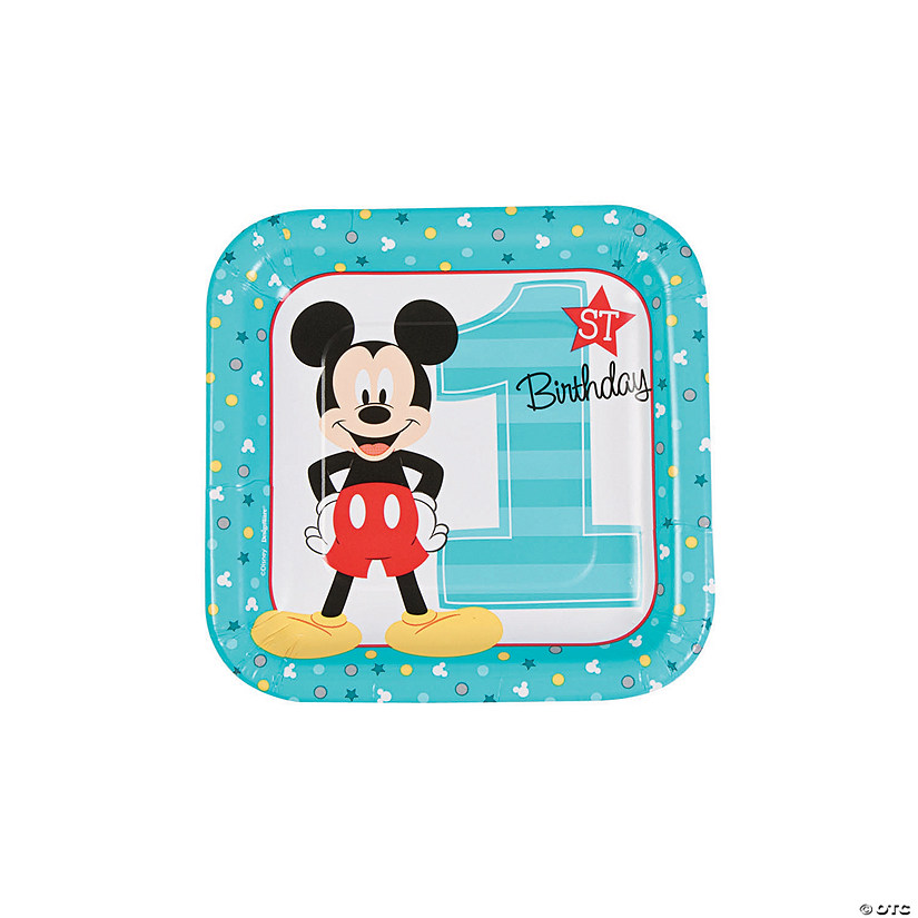 Disney® Mickey's Fun To Be One Square Paper Dessert Plates Audio Thumbnail