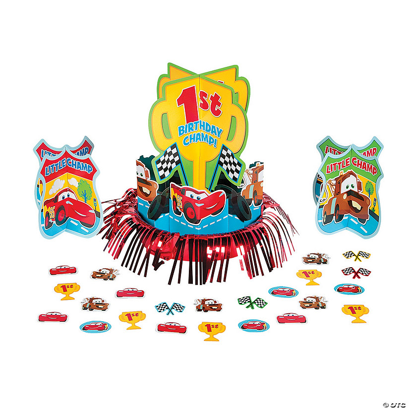 Disney S Cars 1st Birthday Champ Table Decorating Kit Discontinued