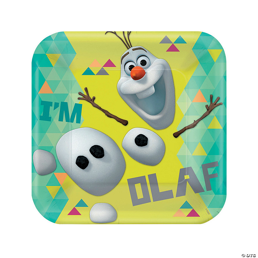 Disney<sup>&#174;</sup> Frozen Olaf Paper Dinner Plates Audio Thumbnail