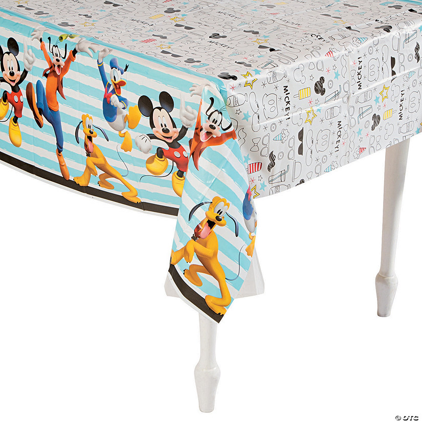 Disney<sup>&#174;</sup> Mickey on the Go Plastic Tablecloth Audio Thumbnail