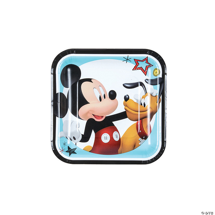 Disney<sup>&#174;</sup> Mickey on the Go Square Paper Dessert Plates Audio Thumbnail