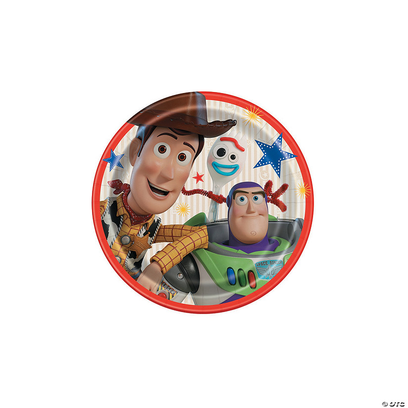 Buzz Disney Toy Story 4 lunch dinner PAPER PLATES birthday party supplies 8 in