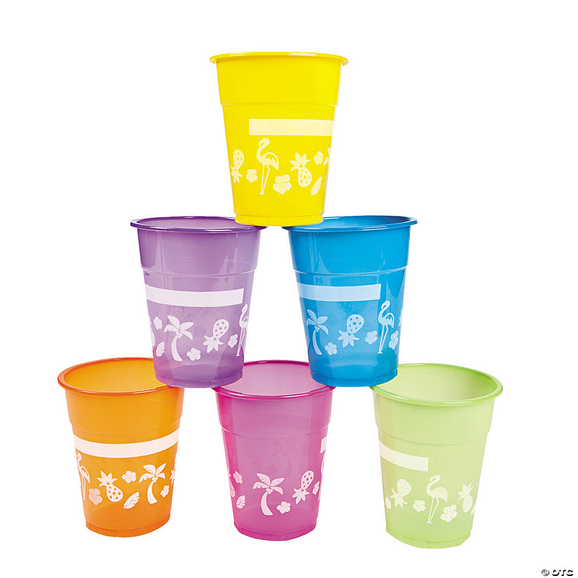 Disposable Plastic Luau Cups - 50 Ct. Image Thumbnail