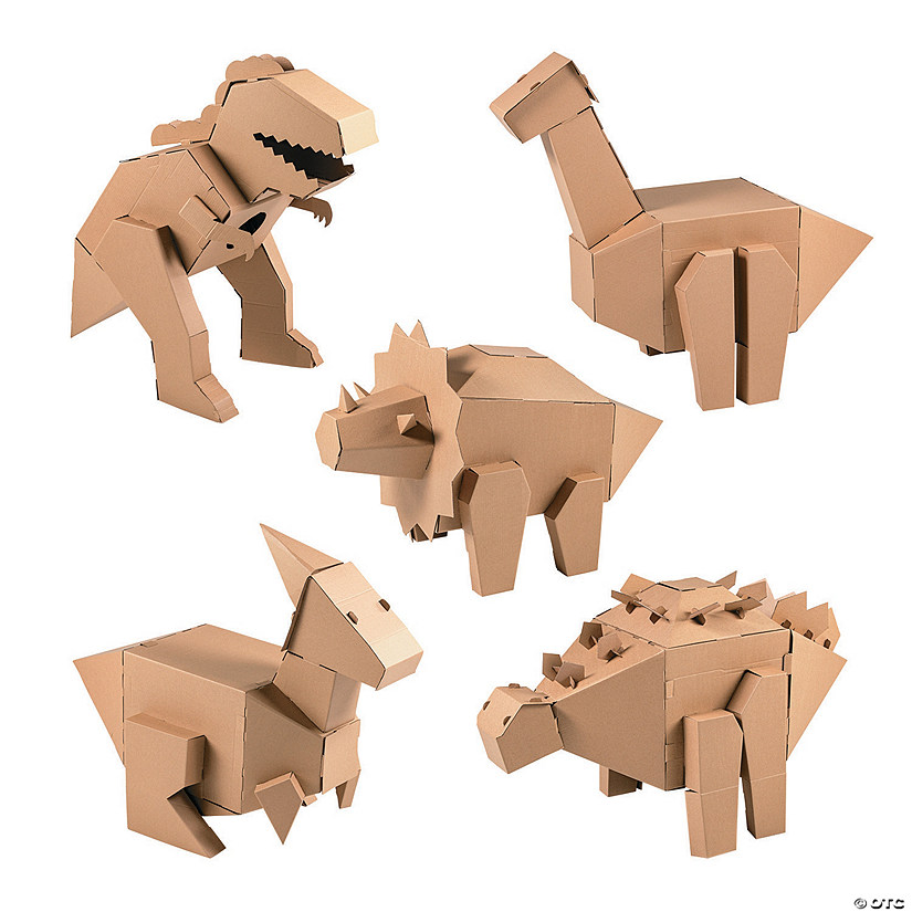 DIY 3D Dinosaur Cardboard Stand-Up Assortment  Audio Thumbnail