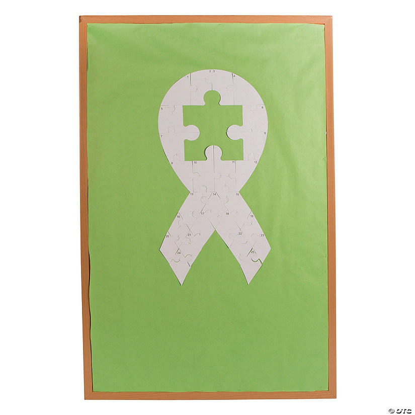 DIY Autism Awareness Bulletin Board Puzzle