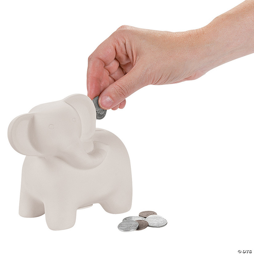 DIY Ceramic Elephant Banks