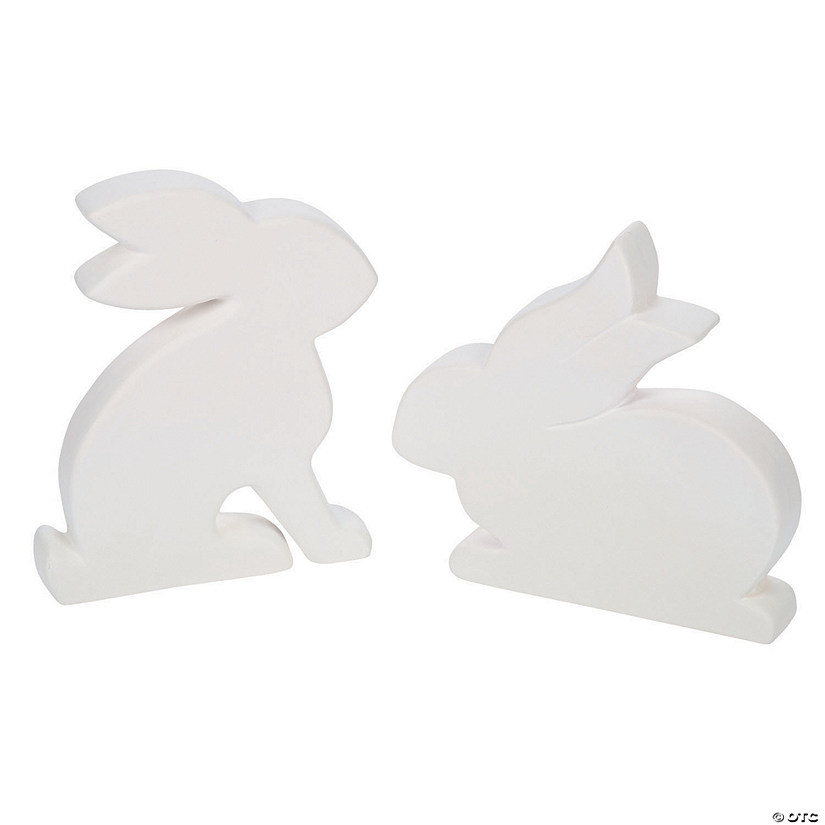 DIY Ceramic Flat Bunnies