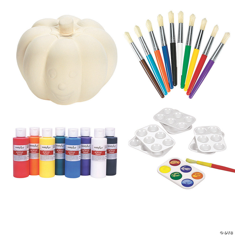 DIY Ceramic Halloween Pumpkin Kit Image Thumbnail