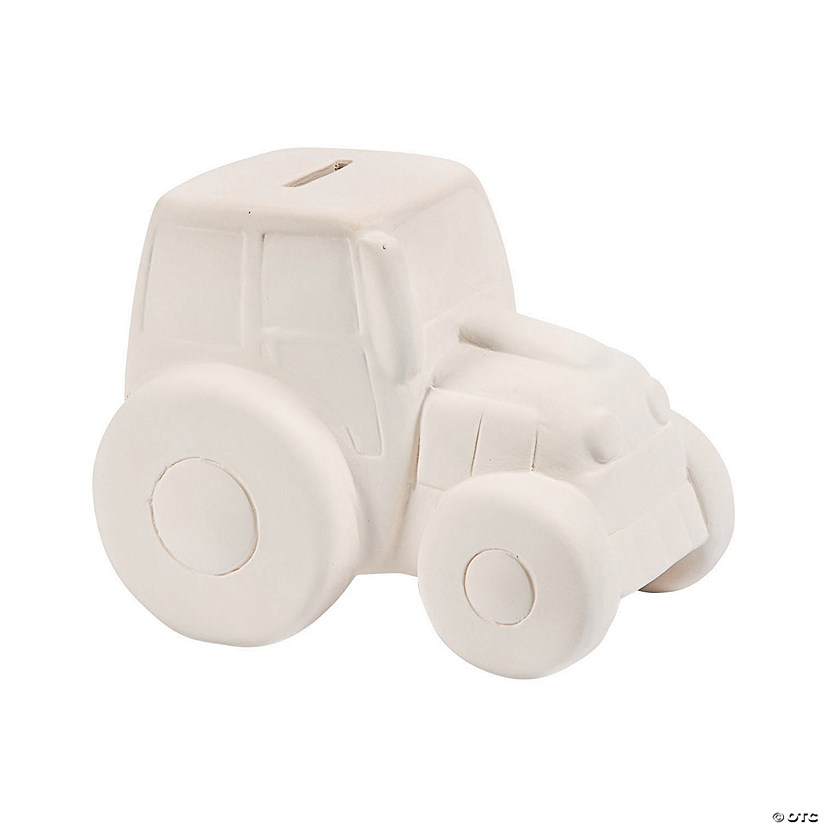 DIY Ceramic Tractor Banks