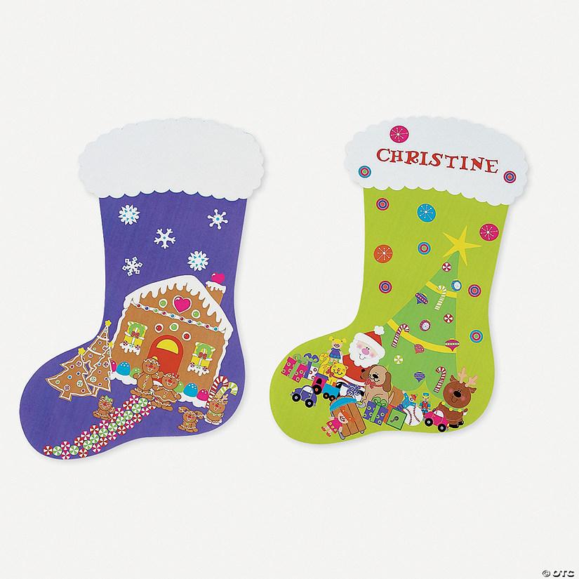 diy giant christmas stocking sticker scenes - Giant Christmas Stocking