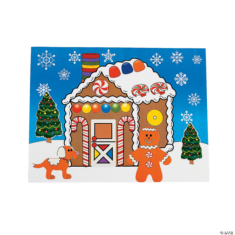 DIY Gingerbread House Sticker Scenes Image Thumbnail