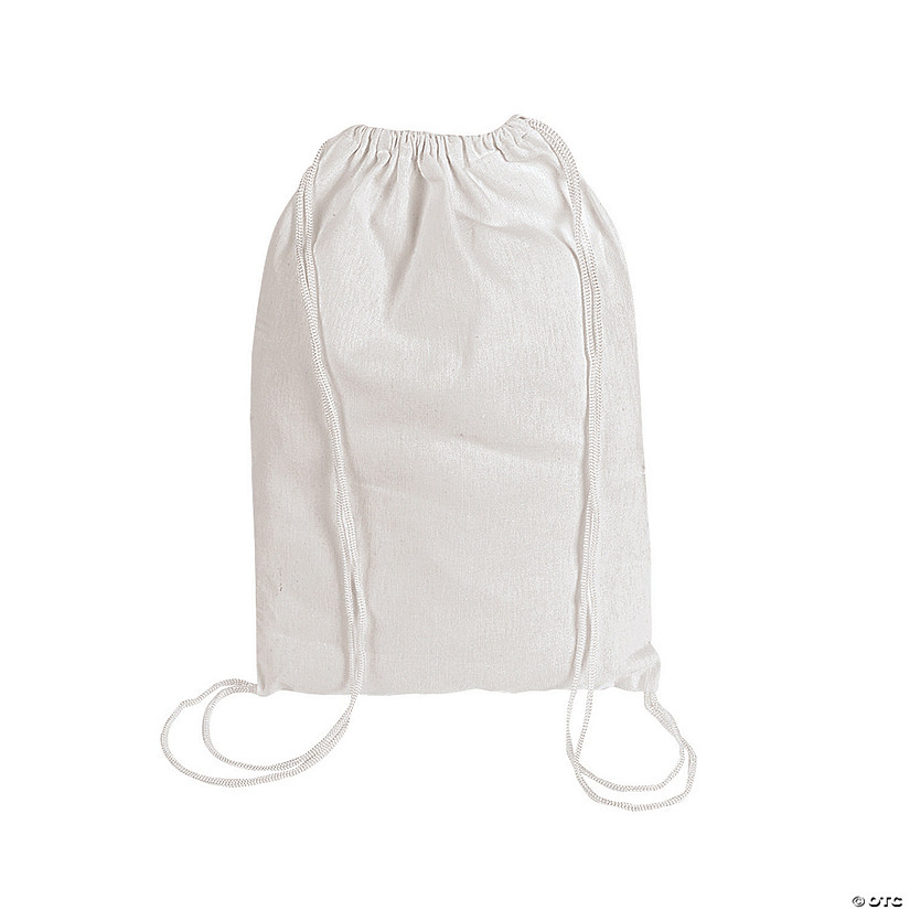DIY Medium White Canvas Drawstring Bags - 48 Pc. Audio Thumbnail