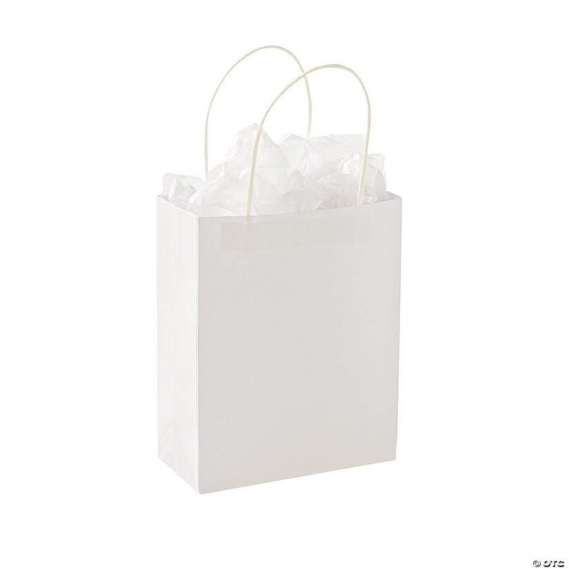 DIY Medium White Gift Bags Image Thumbnail