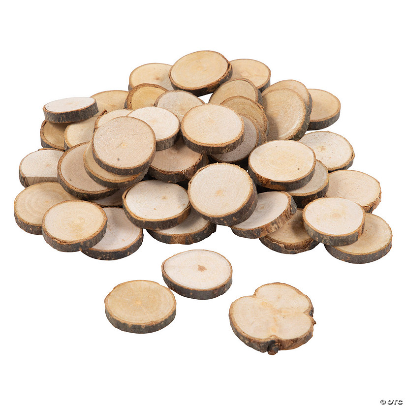 DIY Natural Birch Wood Mini Disc Assortment Image Thumbnail