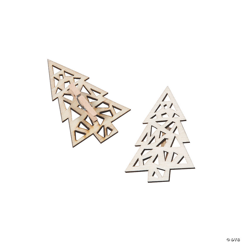 DIY Unfinished Wood Christmas Tree Clips Audio Thumbnail