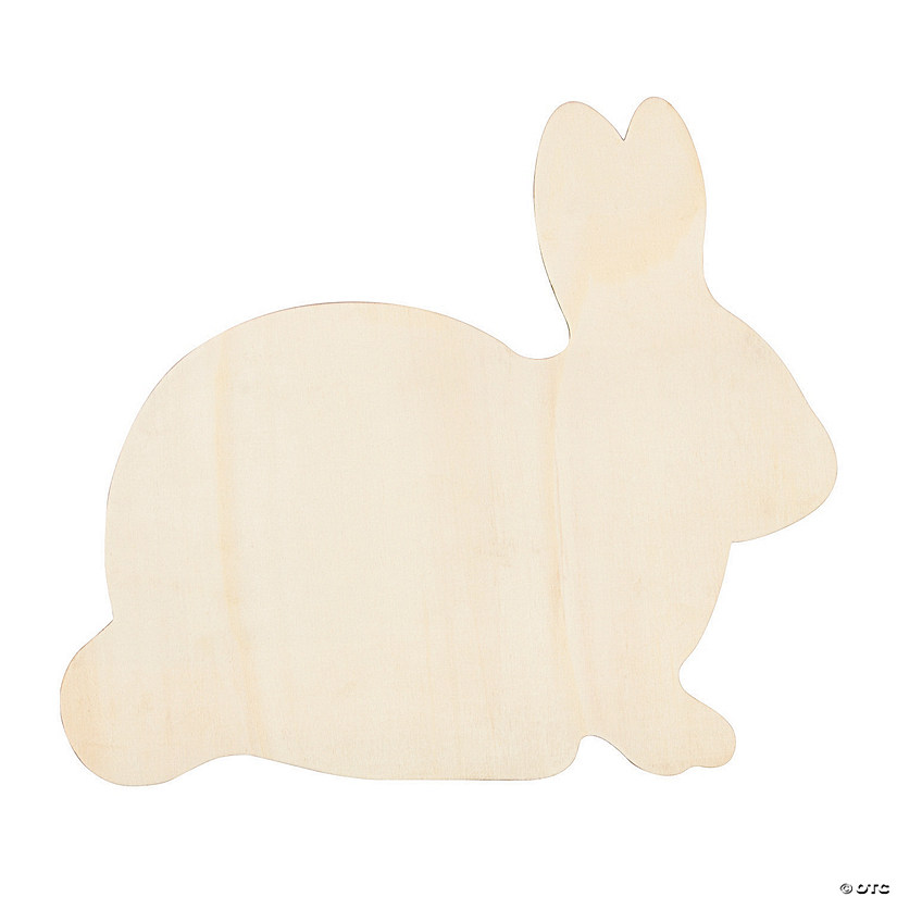 DIY Unfinished Wood Easter Bunny Sign Image Thumbnail