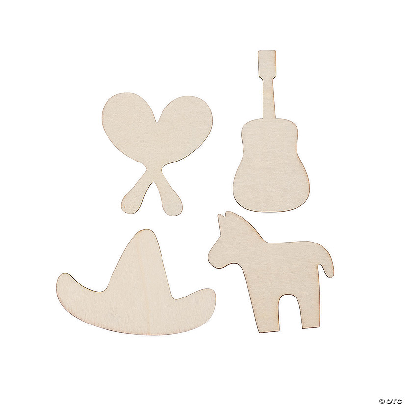DIY Unfinished Wood Fiesta Shapes Image Thumbnail