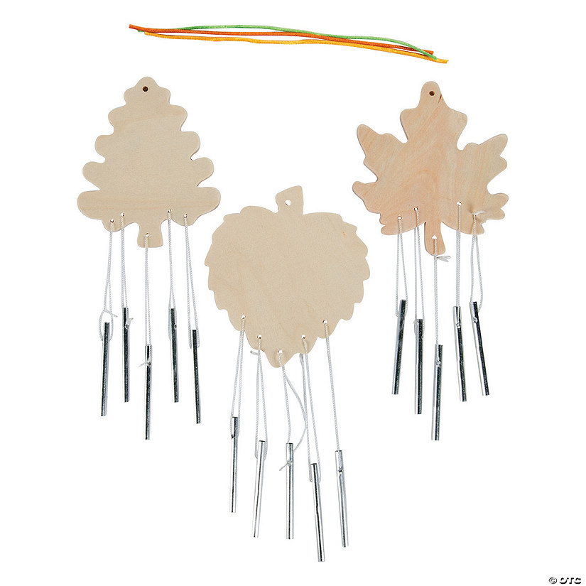 DIY Unfinished Wood Leaf-Shaped Wind Chimes Audio Thumbnail