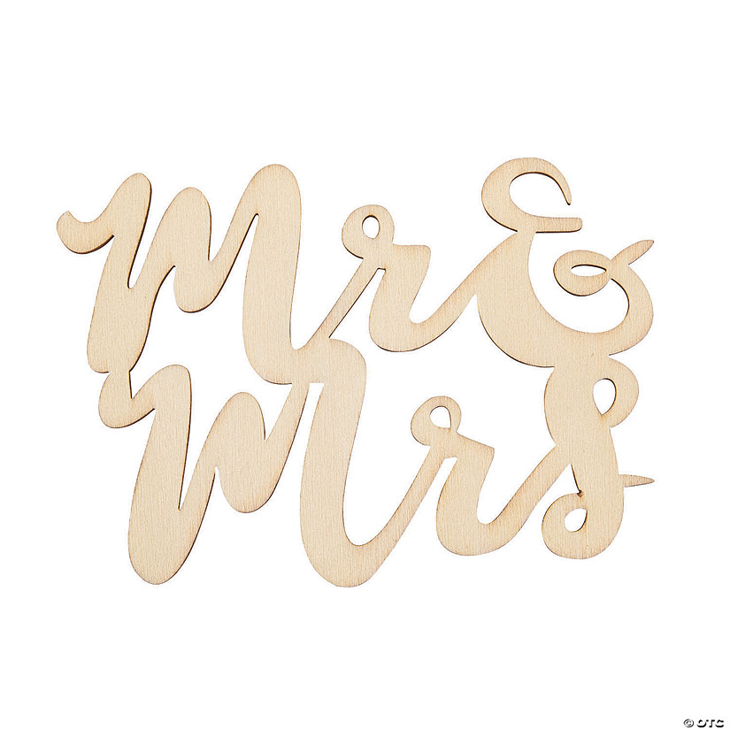 DIY Unfinished Wood Mr. & Mrs. Shapes Audio Thumbnail