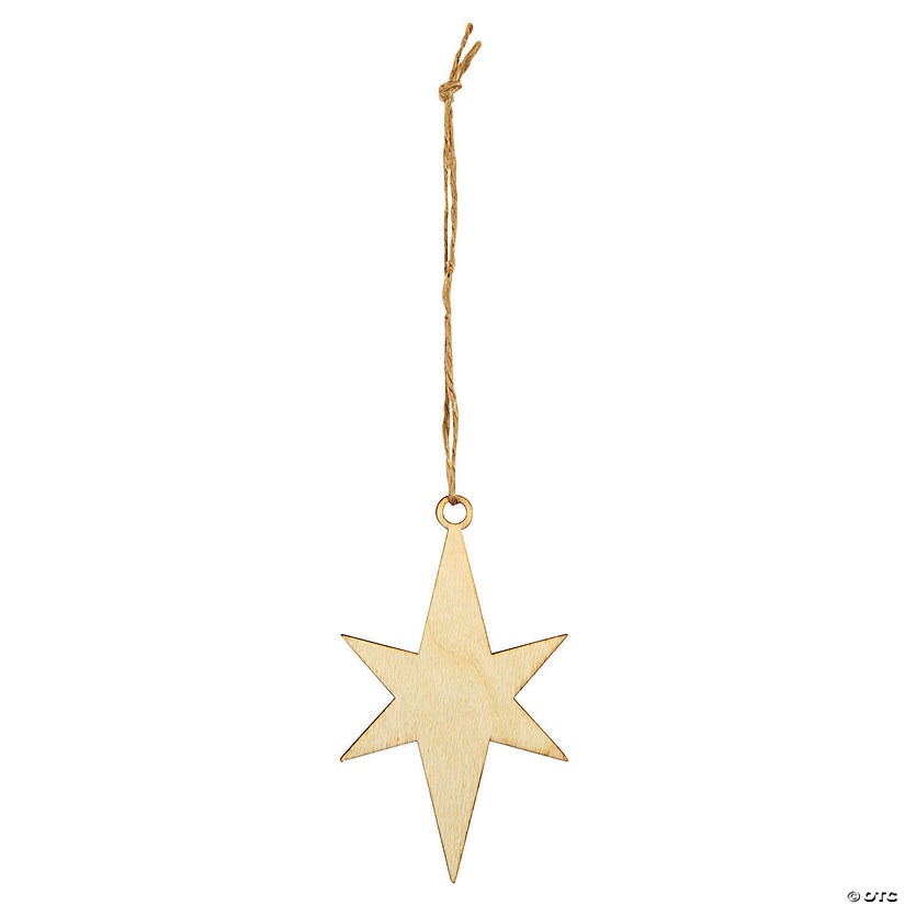 DIY Unfinished Wood North Star Ornaments Image Thumbnail
