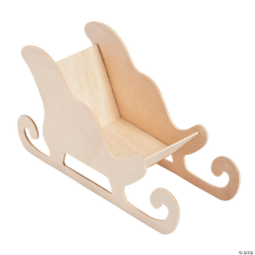 DIY Unfinished Wood Sleighs