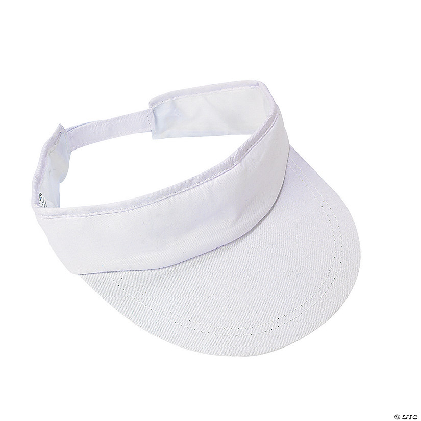 DIY White Cotton Visors - 48 pcs.
