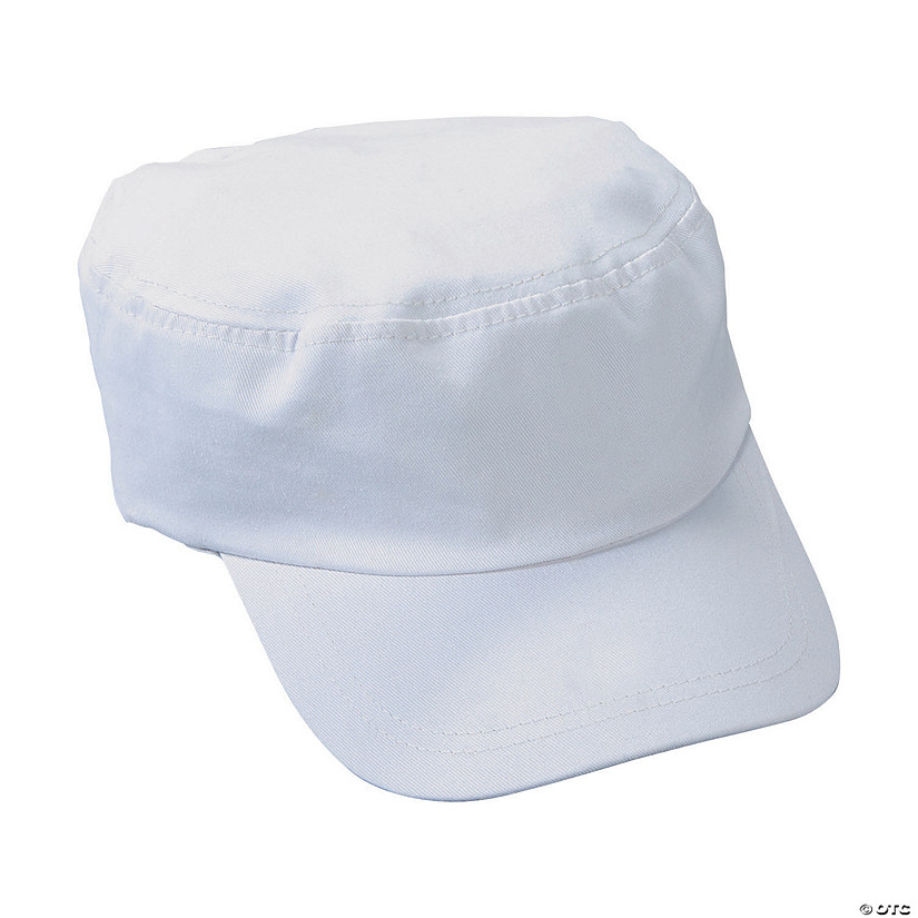 DIY White Military Hat Image Thumbnail