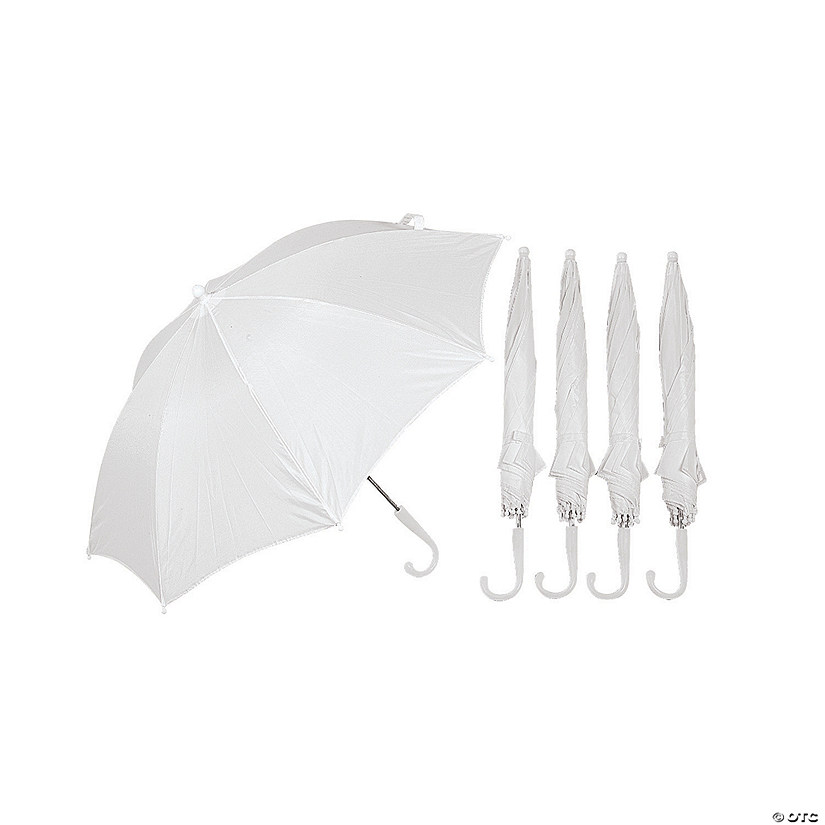 DIY White Umbrellas - 6 Pc.