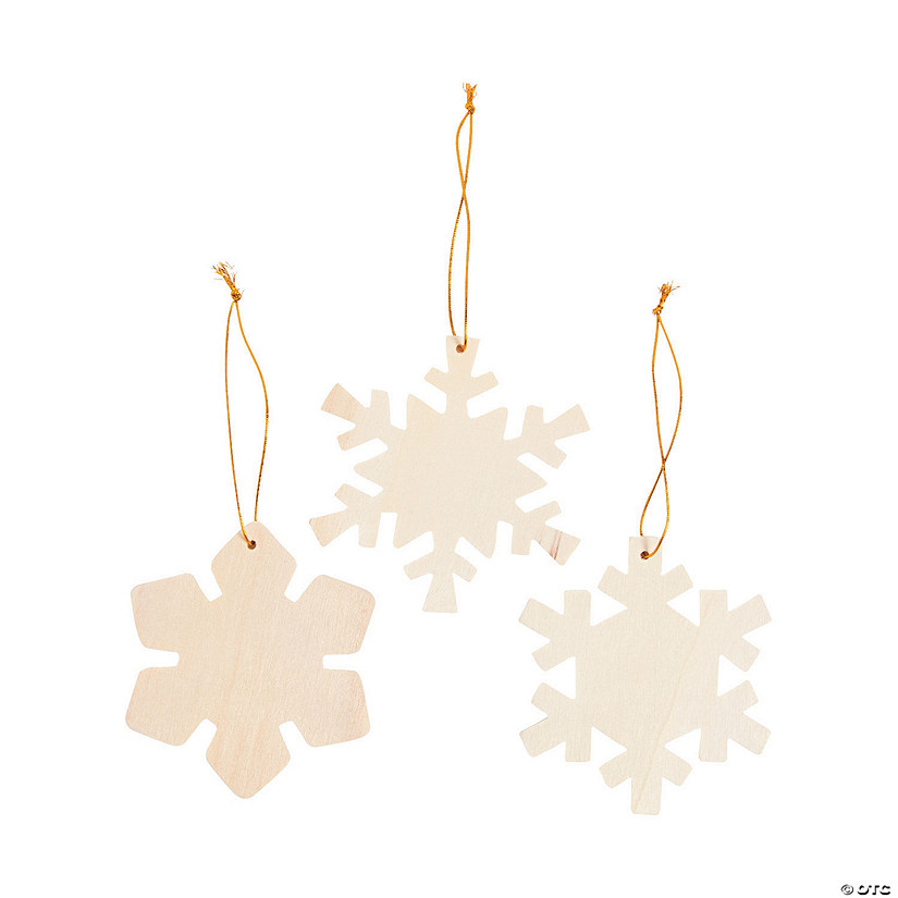DIY Wood Snowflake Ornaments Image Thumbnail