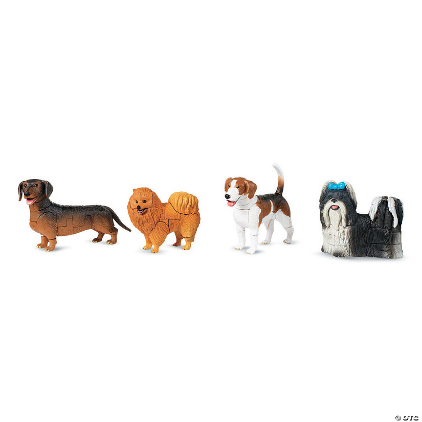 Dog 4D Puzzles: Set of 4