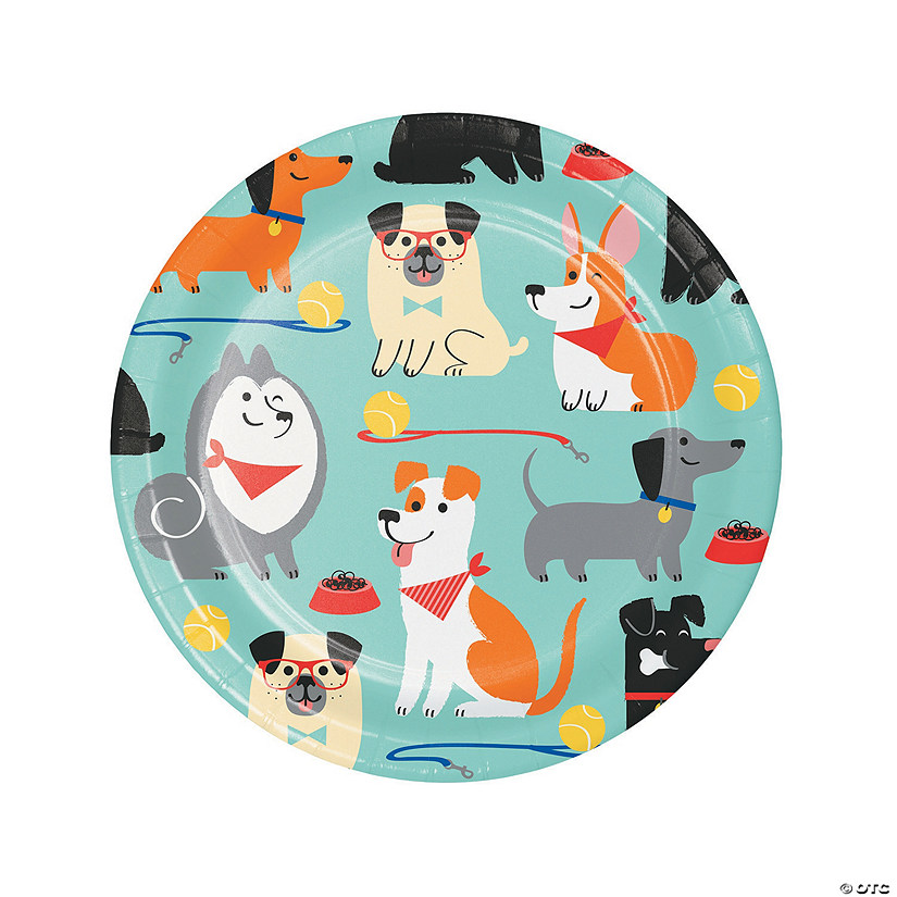 Dog Party Dessert Plates - 8 Ct. Image Thumbnail