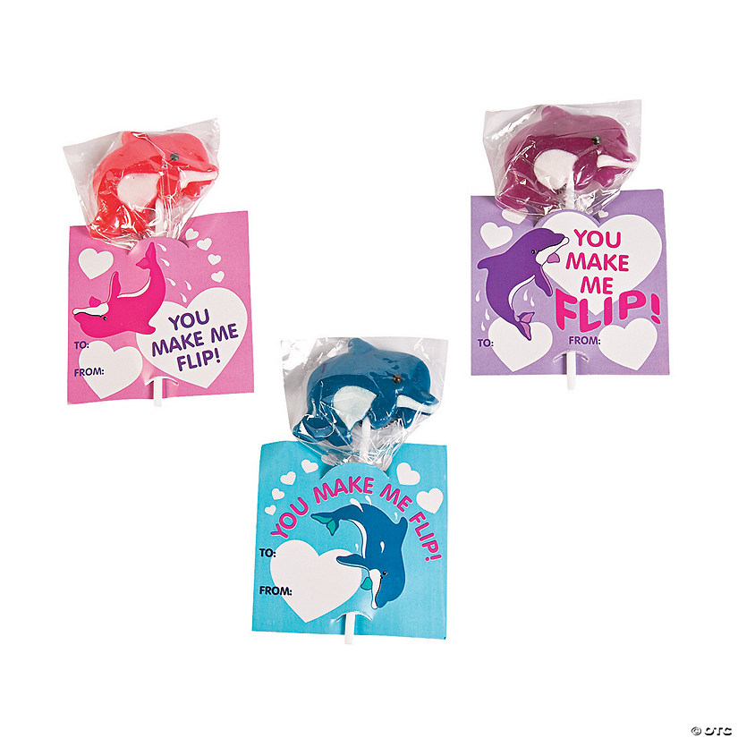 Dolphin Lollipops with Valentine's Day Cards Audio Thumbnail