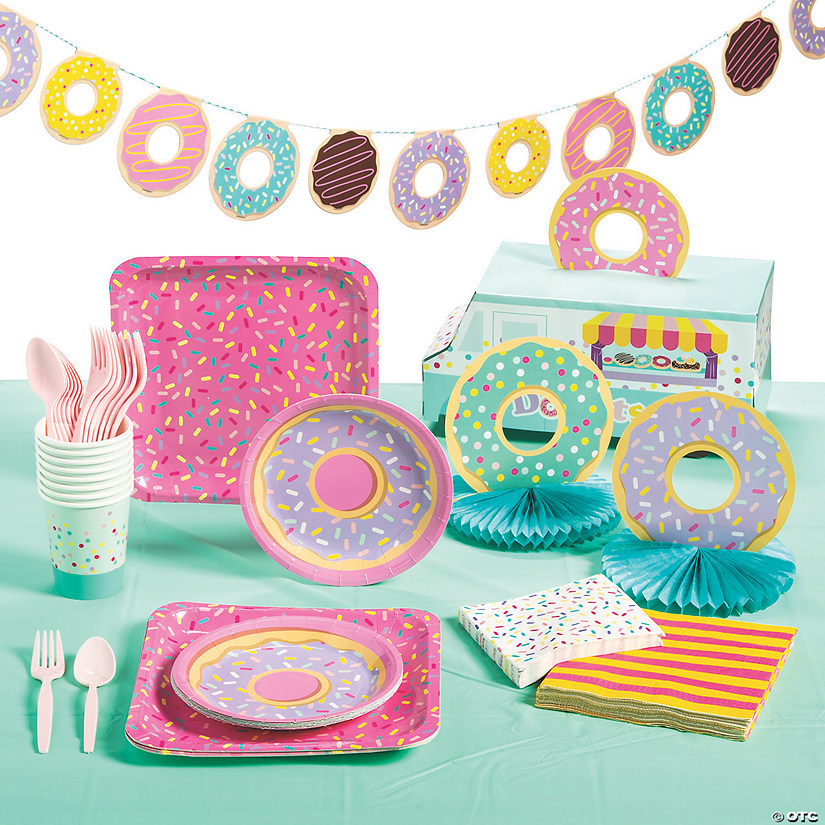 Donut Party Tableware Kit for 8 Audio Thumbnail
