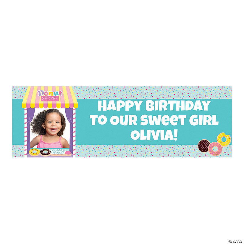 Donut Sprinkles Party Photo Custom Banner Audio Thumbnail