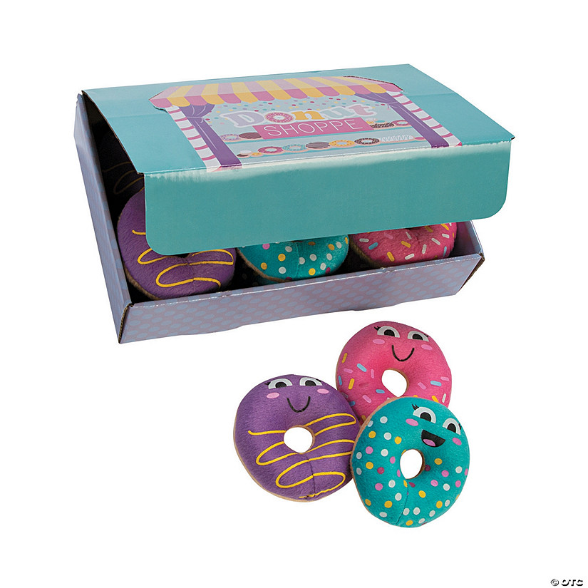 Donut Sprinkles Plush Donuts with Box Image Thumbnail