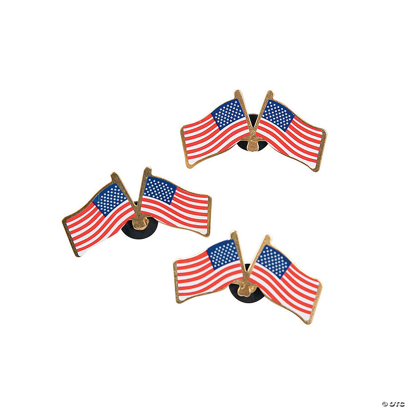 Double American Flag Pins Image Thumbnail