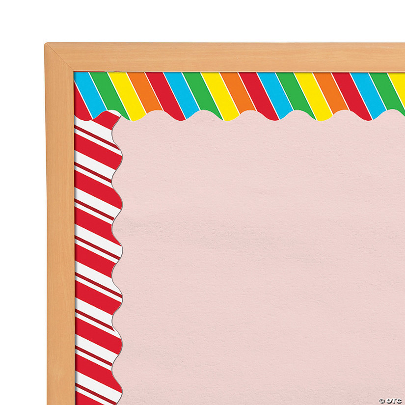 Double-Sided Candy Cane Swirl Bulletin Board Borders Audio Thumbnail