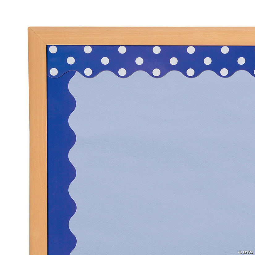 Double-Sided Solid & Polka Dot Bulletin Board Borders - Purple Audio Thumbnail