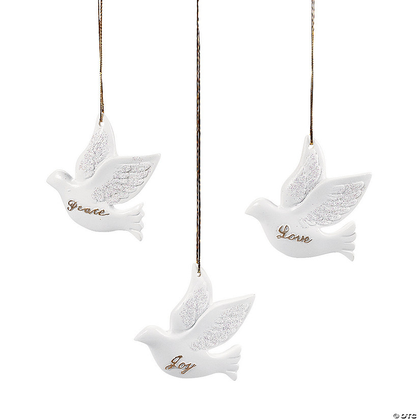 Dove Christmas Ornaments